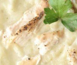 Bloemkoolsoep met kip